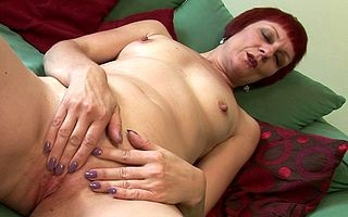 X British redhead effectuation with herself