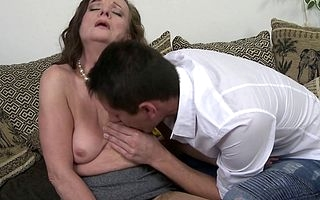 Simmering matured descendant does her toyboy