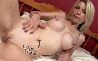 Beauteous MILF rocking their way dildo
