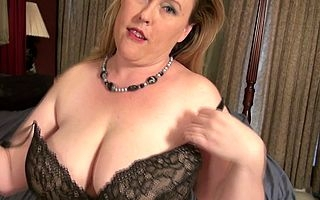 Big breasted American BBW out of it a groundwork to be kinky