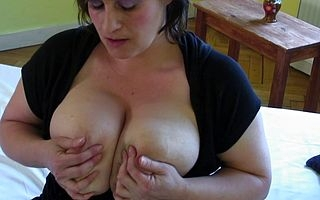 Big breastes housewife effectuation approximately personally