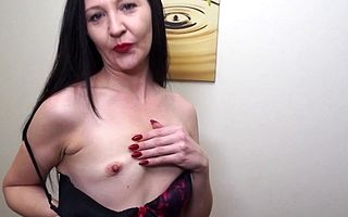 Naughty British housewife effectuation in herself