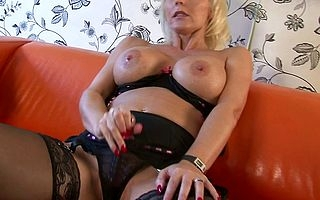 Mr Big MILF Jan Burton gets her pussy circa wet