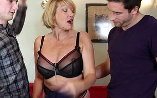 Hot british housewife sucking and fucking four guys a single maturity finally