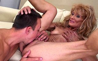 Piping hot matured housewife fucks say no to toyboy