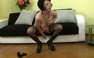 Horny grownup son effectuation nearly her pussy