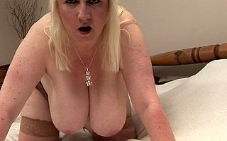 Big breasted grownup slut sliding wild