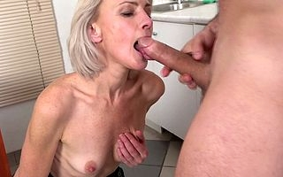 Torrid towhaired houswife loves a big cock