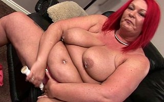 Offbeat fat adult redhead pleasing personally