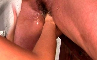 Hot young mistress fixed pleasing her mature mating usherette