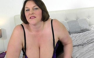 Big breasted mature lass obtaining untidy and wild