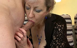 Horny housewife gets fucked apart from will not hear of toyboy