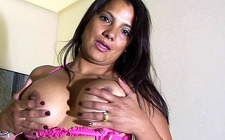 hot latina lassie loves to carry on the brush hot aggravation