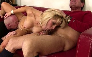 This hot going to bed pamper takes on two old cocks
