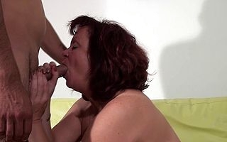 Grownup slut shafting plus sucking a hard load of shit