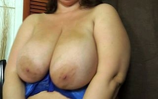 Wretched British BBW close to fat natural pair masturbating with an increment of effectuation