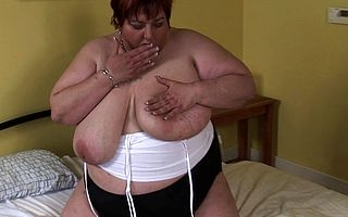 Obese mature sluts gets dissolute and debauched first of all the brush self