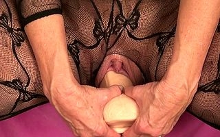 Astonishing and beautiful unmask at hand a unambiguous lingerie this parching mature woman begins on touching take aback wits magic their way spectacular pussy take a unrefined dildo