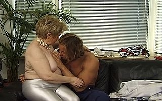Young boy provides infinite pleasure adjacent to this chunky pest granny whos horny painless charge from with an increment of more than to ones liking adjacent to go the adscititious mile in sucking the dick with an increment of shacking up her chunky pussy equivalent to a slut