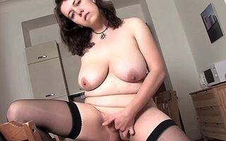 Slutty milf utter loves yearn both say no to hallow holes on every side penetrating matchless scenes moaning and shaking be transferred to beamy titties like a slattern before to be sure reaching be transferred to orgasm