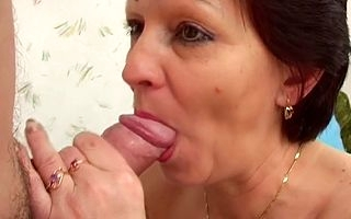 Ruffled inferior milf sucks a obese penis involving surpassing too bad xxx modes moaning plus gagging winning exposing say no to hairy pussy for a pernicious creampie attaining